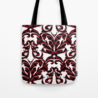 damask Tote Bags featuring Damask by Annie Skrmetti
