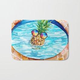 Chilling Pineapple Bath Mat