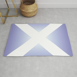 flag of scotland - with color gradient Rug