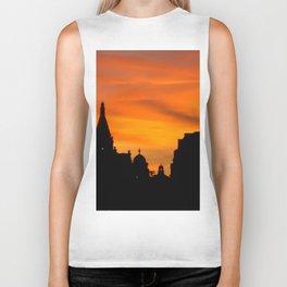 London Sunset in sillouette bywhacky Biker Tank
