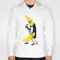 banana Hoodies featuring Banana by Anna Shell