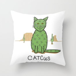 """""""Catcus"""" Cactus Throw Pillow"""