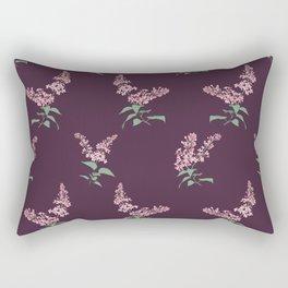 Lilac Flowers Spring Pattern Rectangular Pillow