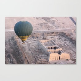 King Ramesses III temple by hot air balloon Canvas Print