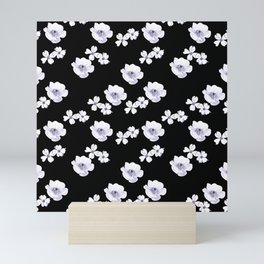 Flowers - White and Lilac Mini Art Print