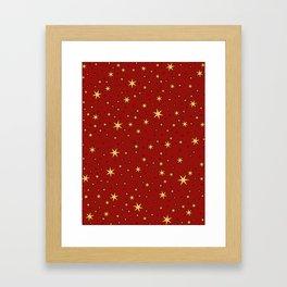 Gryffindor Chapter Stars Framed Art Print