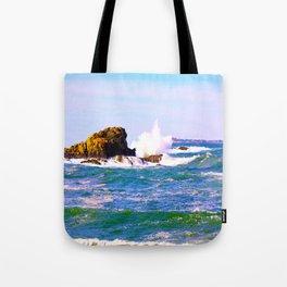 Breakers Point Rocks Tote Bag