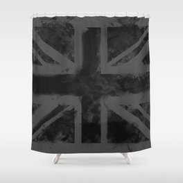 Black UK Flag Shower Curtain
