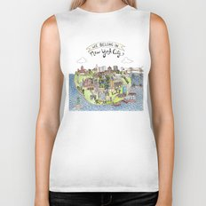 New York City Love Biker Tank