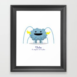 Tlaloc - Le seigneur de la pluie (Lil Gods) Framed Art Print