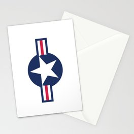 US Airforce style roundel star - High Quality image Stationery Cards