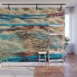 Nylon Fishing Nets Sand Beach Seaside Wall Mural