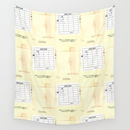 Library Book Date Due Card Wall Tapestry