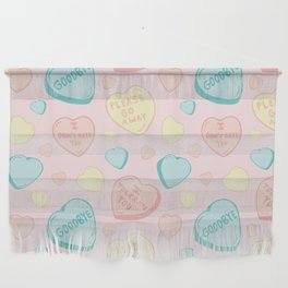 Introvert Conversation Hearts Wall Hanging