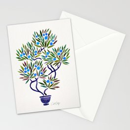 Bonsai Fruit Tree – Blue Palette Stationery Cards