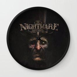 The Nightmare Sketchbook Wall Clock