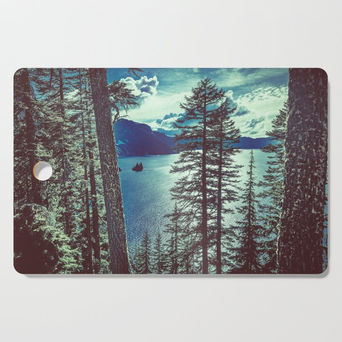 Crater Lake Vintage Summer Cutting Board