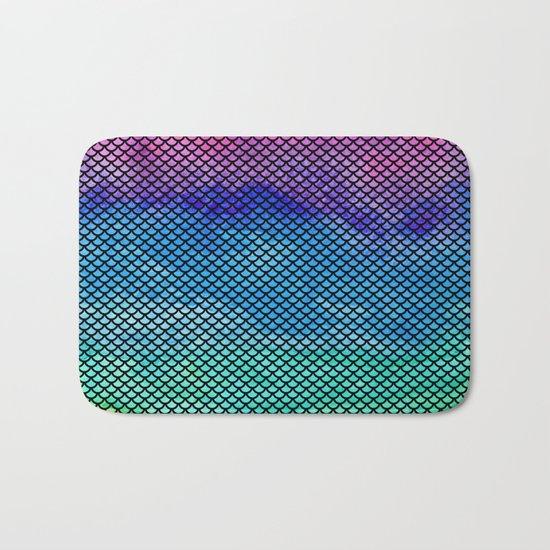 Rainbow Mermaid Tail Bath Mat