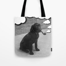 Pipe Puffing Dog Tote Bag