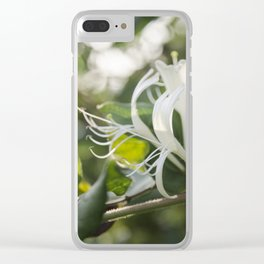 Dancing Flowers Clear iPhone Case