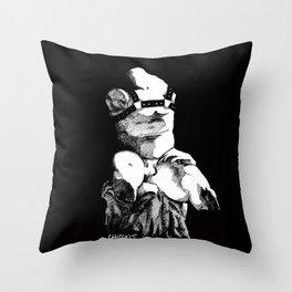 torso belvedere black Throw Pillow