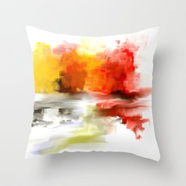 Impressionist's Abstract Landscape  Throw Pillow