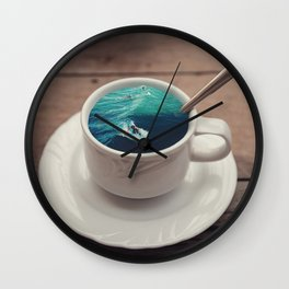 A Cup Of Surfer! Wall Clock
