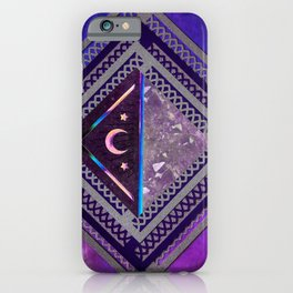 Purple Lace Moon Collage iPhone Case