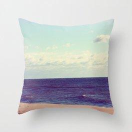 Peaceful Serene Beach Throw Pillow