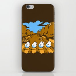 Why Did The Chicken Cross Abbey Road...? iPhone Skin