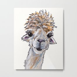 Alpaca Art, Angel the Alpa Metal Print