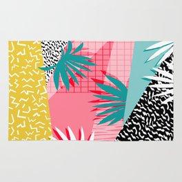 Bingo - throwback retro memphis neon tropical socal desert festival trendy hipster pattern pop art  Rug