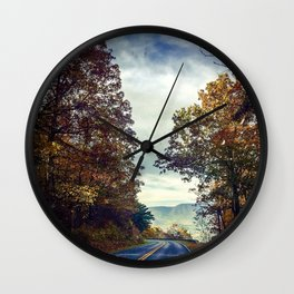 Fall Drive Wall Clock