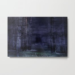Creepy Forest Metal Print
