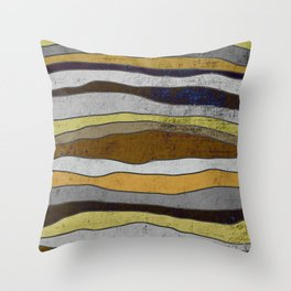 Nordic Layers - Abstract, Textured Art Throw Pillow