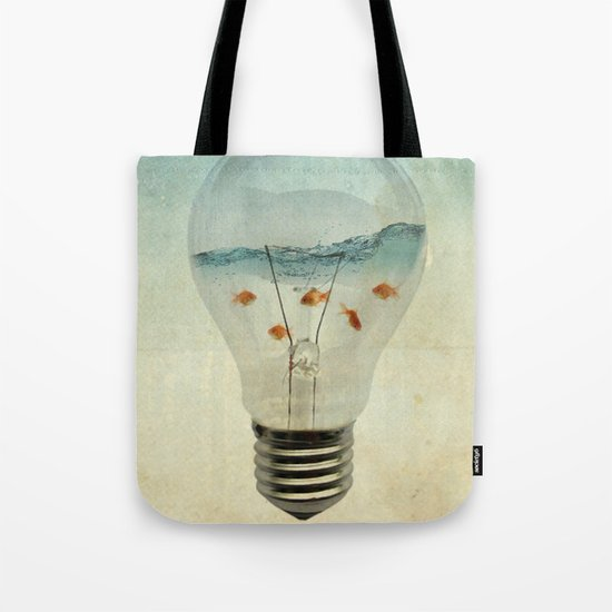 blue sea thinking Tote Bag