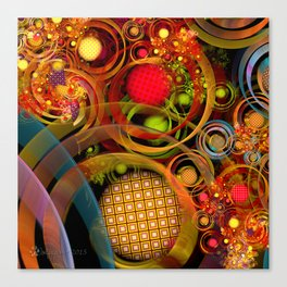 Rings Around the Bubbles Canvas Print