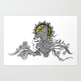 Shiva Moon Art Print