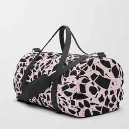 Terrazzo Spot Black on Blush Duffle Bag