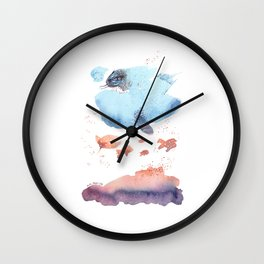 Cloud fish the Boogie Man - Fantasy Worlds - Watercolor Wall Clock