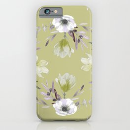 Floral Square Yellow iPhone Case
