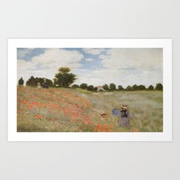 Claude Monet's Coquelicots: La Promenade Art Print