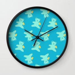 Turquoise Bear Wall Clock