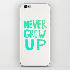 Never Grow Up iPhone & iPod Skin