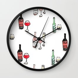 #DrinkWineDay Pattern Wall Clock