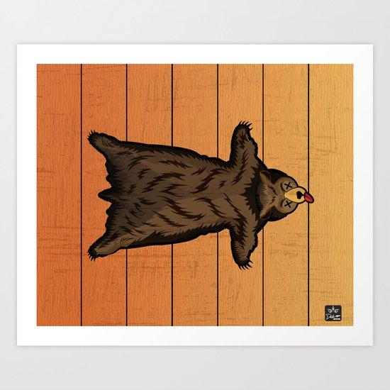 Bear Skin Rug Art Print