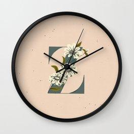 Z for Zinnia Wall Clock