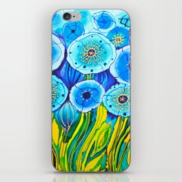 Field of Blue Poppies #1 iPhone Skin