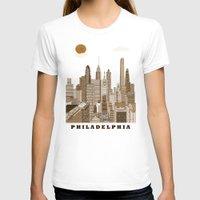 philadelphia T-shirts featuring Philadelphia skyline vintage by bri.buckley