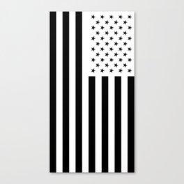 American Flag with Black Stars Canvas Print